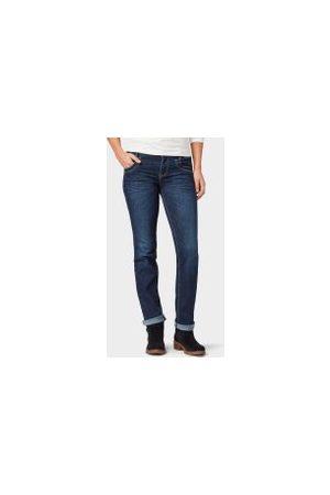 TOM TAILOR Alexa Straight Jeans, Damen, dark stone wash denim, Größe: 26/30
