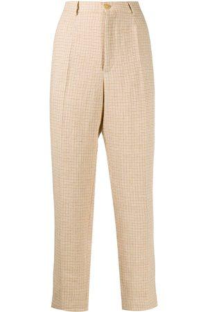 FORTE FORTE Damen Capris - Check print trousers - Nude