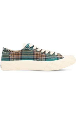 AGE - ACROSS TO GENUINE ERA Age Cut Checked Cotton Sneakers