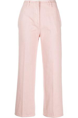 Prada High-waisted cropped jeans