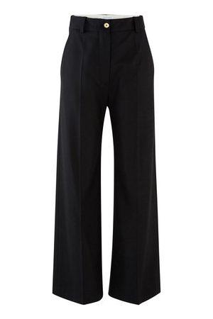 Patou Damen Hosen & Jeans - Hose mit geradem Bein aus Schurwolle