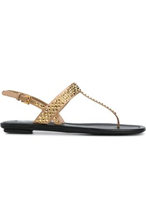 Prada Studded T-bar sandals - Nude