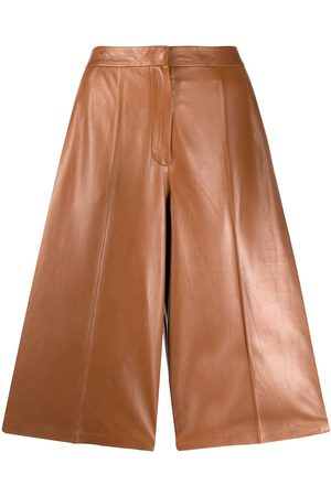 DESA 1972 High-rise leather culottes - Nude