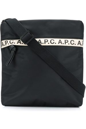 A.P.C Kuriertasche mit Logo-Streifen