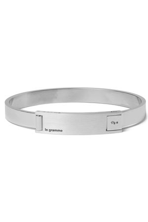 Le Gramme Assemblage Le 21 Brushed And Sterling Bracelet