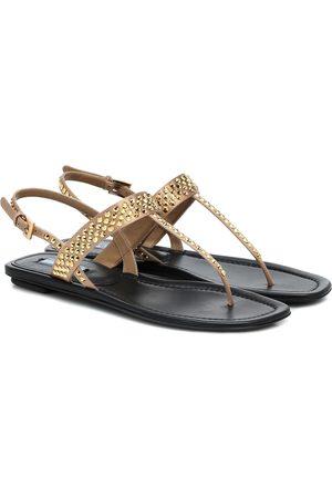 Prada Sandalen aus Leder und Satin