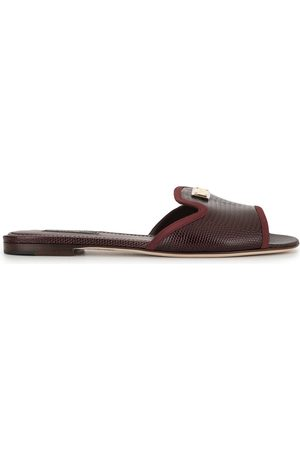 Dolce & Gabbana Lizard-effect slip-on sandals