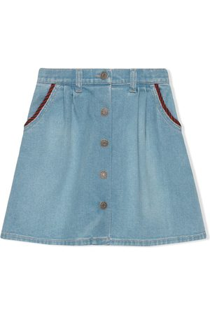 Gucci Kids Interlocking G denim skirt