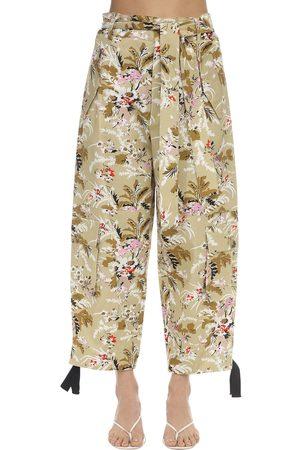 Colville High Waist Floral Print Cargo Pants