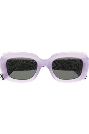 Retrosuperfuture Sonnenbrille mit Zebramuster - Lila