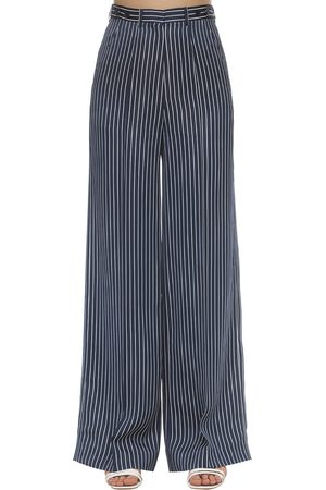 Rokh Striped Satin Wide Pants