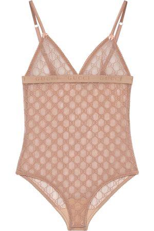 Gucci Damen Bodys - Body aus GG Tüll