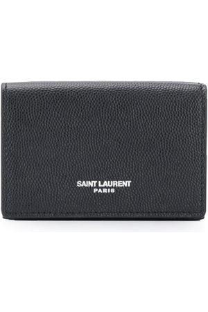 Saint Laurent Kartenetui aus gekörntem Leder