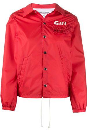Comme des Garçons Ruffle trim hooded jacket