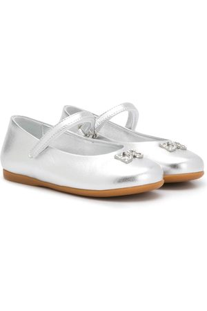 Dolce & Gabbana Ballerinas in Metallic-Optik