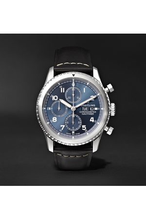Breitling Herren Uhren - Navitimer 8 Automatic Chronograph 43mm Steel And Leather Watch, Ref. No. A13314101c1x1