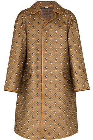 Gucci Mickey GG print reversible leather wool coat