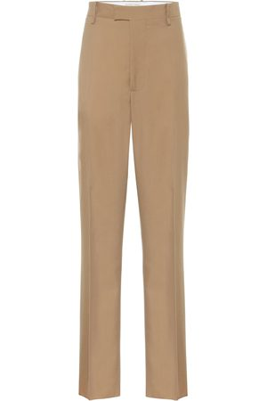 Bottega Veneta Damen Stoffhosen - High-Rise Hose aus Wolle