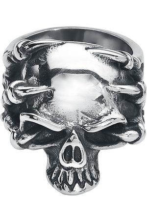 etNox hard and heavy Klauenschädel Ring silberfarben