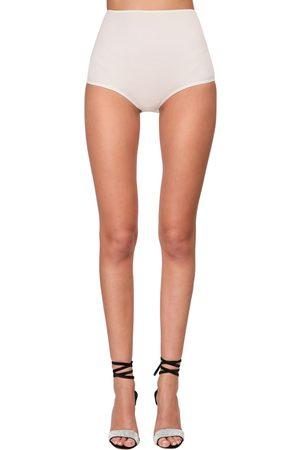 ALEXANDRE VAUTHIER High Waist Stretch Jersey Shorts