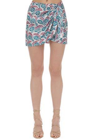 Isabel Marant Damen Bedruckte Röcke - Renzia Printed Silk Mini Skirt