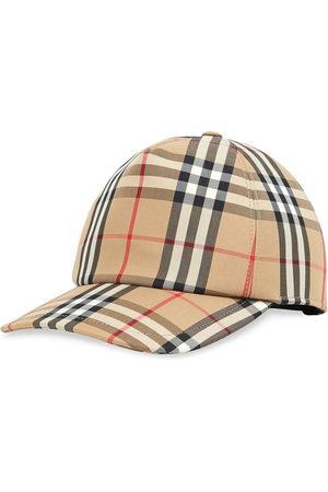 Burberry Check print baseball cap - Nude