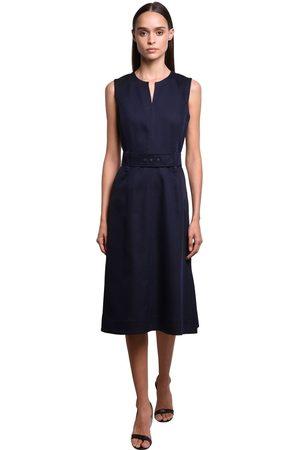 Sportmax Kleid Aus Baumwoll/viskosegabardine