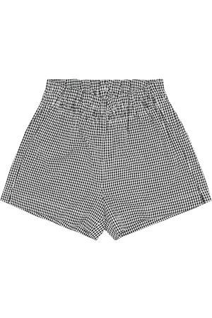 Il gufo Karierte Shorts aus Seersucker