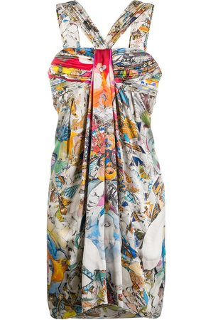 VERSACE Kleid mit abstraktem Print