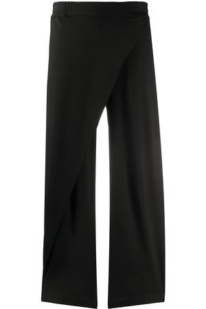 Cropped layered front trousers