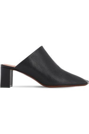 Vetements Damen Clogs & Pantoletten - 60mm Boomerang Leather Mules