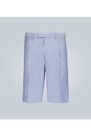 Prada Gestreifte Baumwoll-Shorts