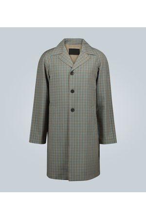 Prada Karierter Trenchcoat aus Wolle