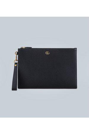 Gucci Leder-Pouch GG Marmont