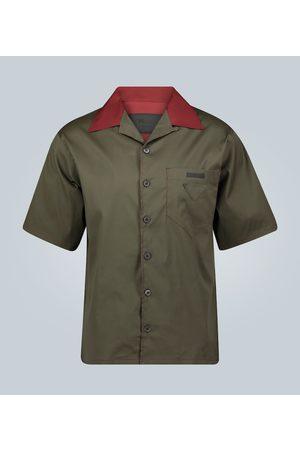 Prada Kurzarmhemd mit offenem Kragen