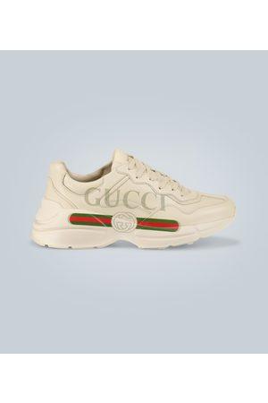 Gucci Bedruckte Logo-Sneakers Rhyton