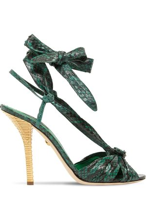 Dolce & Gabbana 105mm Snake Skin Lace-up Sandals