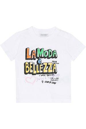 Dolce & Gabbana Baby Shirts - Baby bedrucktes T-Shirt aus Baumwolle