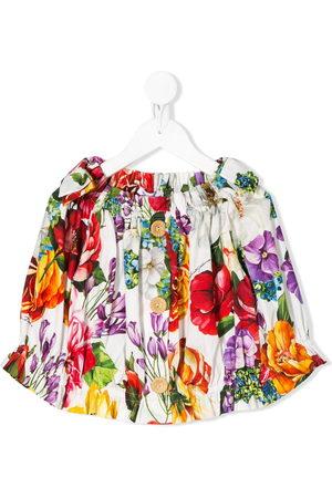 Dolce & Gabbana Bluse mit Blumen-Print
