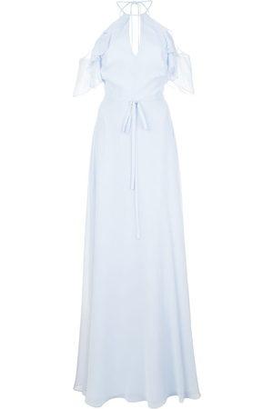 Marchesa Notte Langes Kleid mit Cut-Outs