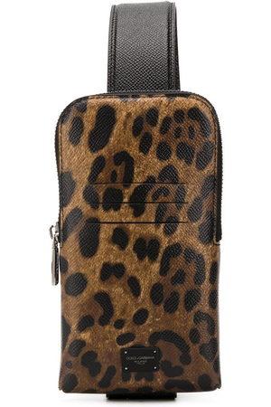 Dolce & Gabbana Leopard print cross-body bag - Nude