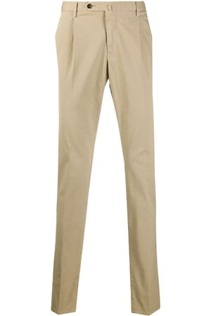 PT01 Slim-fit mid-rise chinos - Nude
