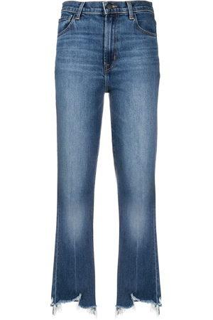 J Brand Ausgefranste Cropped-Jeans