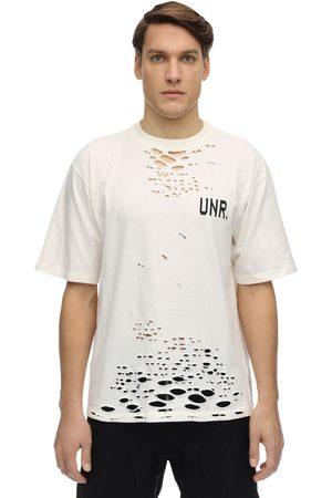 UNRAVEL Herren Shirts - Oversize Destroyed Jersey T-shirt