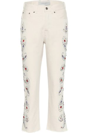 Golden Goose High-Rise Cropped Jeans Texas