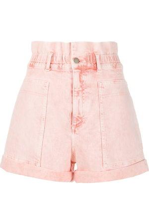 Stella McCartney Hoch sitzende Distressed-Shorts