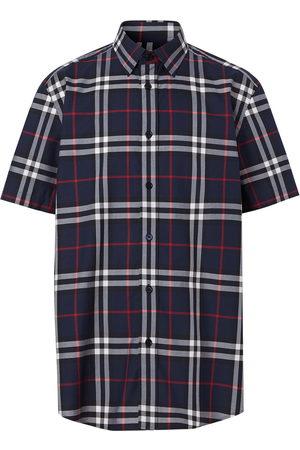 Burberry Check print short-sleeved shirt