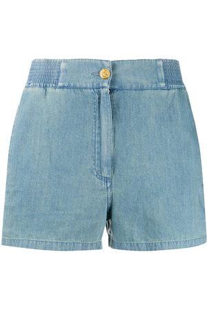 Gucci Damen Shorts - Piped chambray shorts