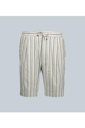 LARDINI Gestreifte Shorts aus Baumwolle