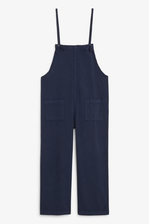 Monki Cotton dungarees - Blue
